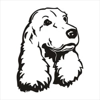 car stickers decor motorcycle decals styling cocker spaniel dog decorative accessories creative waterproof pvc16cm13cm