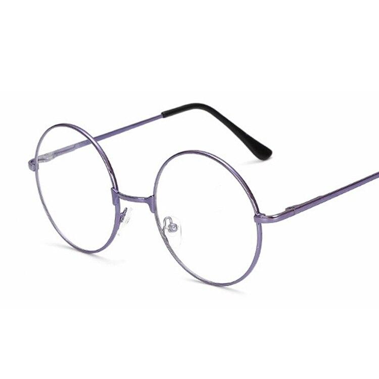 Montura para gafas redonda, montura transparente para gafas de marca, montura óptica para gafas de miopía de empollón, montura negra para gafas