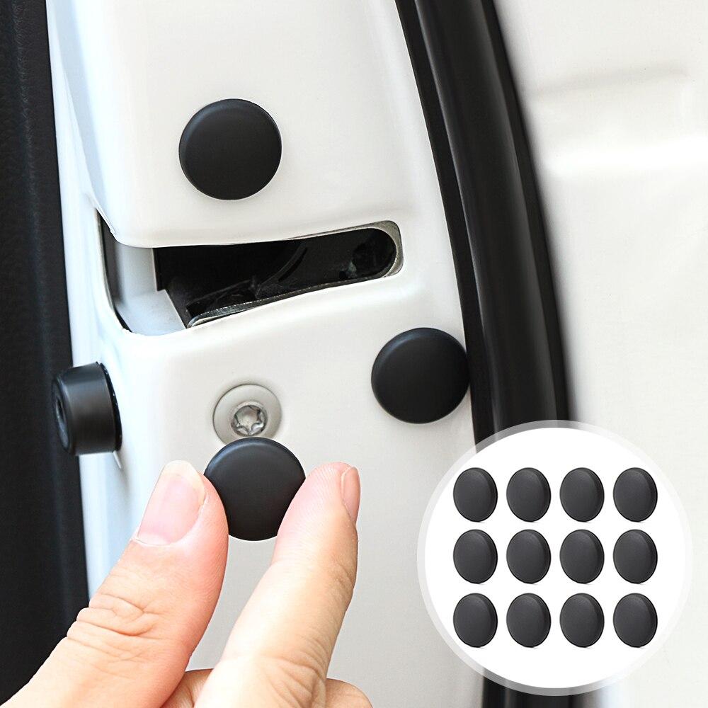 12 Uds cerradura de la puerta del coche cubierta protectora de tornillo accesorios para Mitsubishi Outlander ASX RVR Lancer EX L200 Mirage Pajero Galant