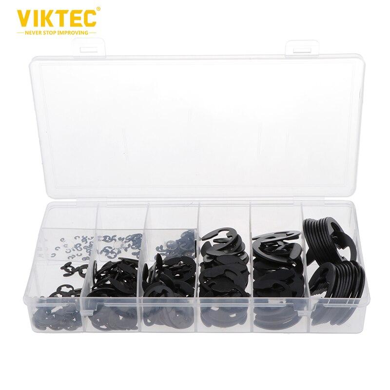 Viktec 300PC E-Clip & Retaining Assortment Kit M1.5-M22 Circlip Kit Set In Box 300pc E-Clip & Retaining Assortment Kit M1.5-M