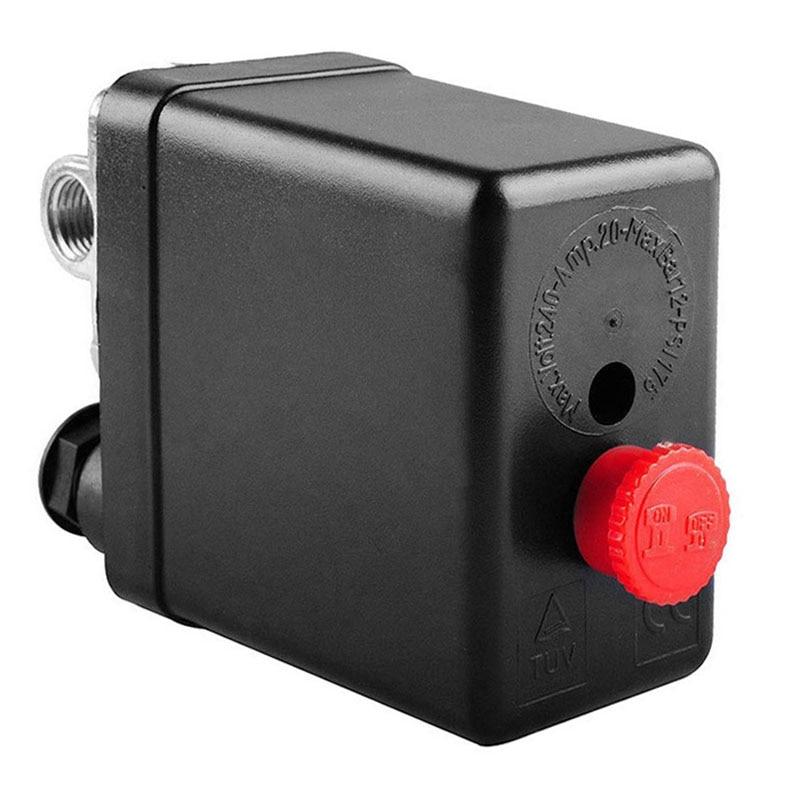 Кронштейн для воздушного компрессора, манометр, регулирующий клапан, автоматический переключатель давления 90 Psi -120 Psi, горячий, сверхмощный