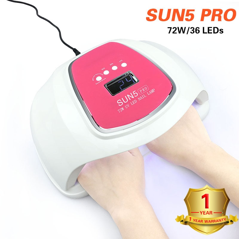 SUNX УФ лампа 72 Вт SUN5 PRO светодиодный светильник для ногтей для маникюра двухручная лампа 100 в-240 в Сушилка для ногтей для отверждения гель для н...