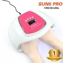 Sunx Uv Lamp 72W SUN5 Pro Led Nail Lamp Voor Manicure Twee Hand Lamp 100V-240V nail Droger Voor Curing Nail Gel Nail Art Gereedschap