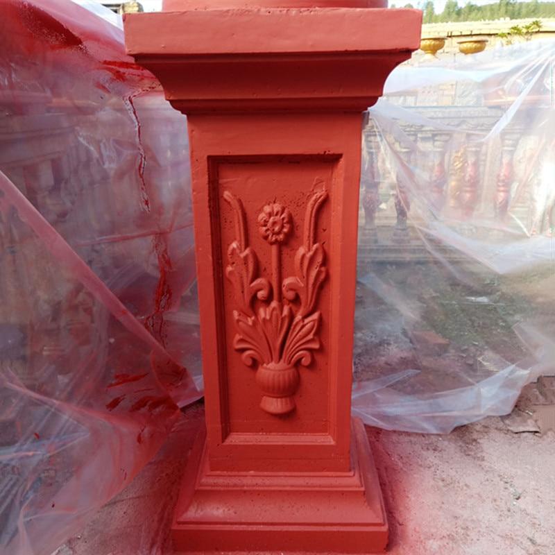 30 см/11,81 дюйма ABS поликарбонат простой многофункциональный классический стиль бетонный Римский столб форма сиденье садовый забор ограждающ...