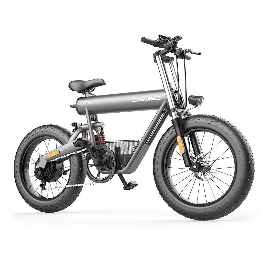 Bicicleta eléctrica para hombre, batería de 10-20Ah, neumático ancho de nieve y...