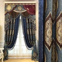 blackout curtain soft shading elegant solid color luxury decoration for living room window curtain bedroom dining room french