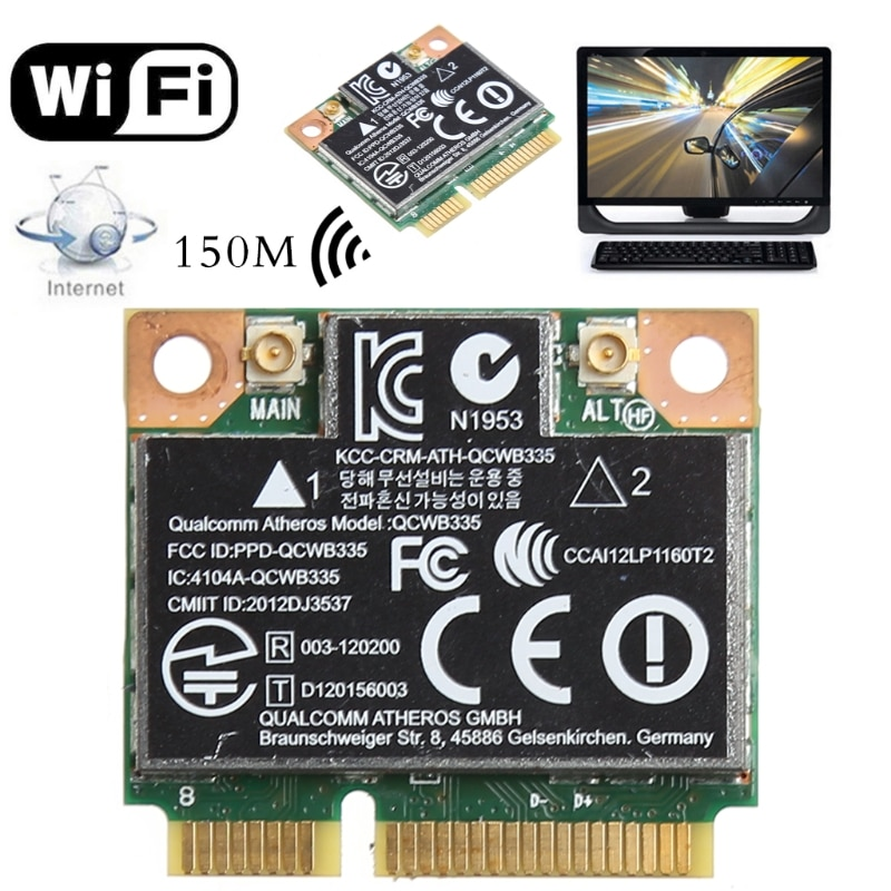 Mini tarjeta PCI-E inalámbrica Bluetooth 4,0 Wifi para HP QCWB335 AR9565 SPS 733476-001-PC amigo