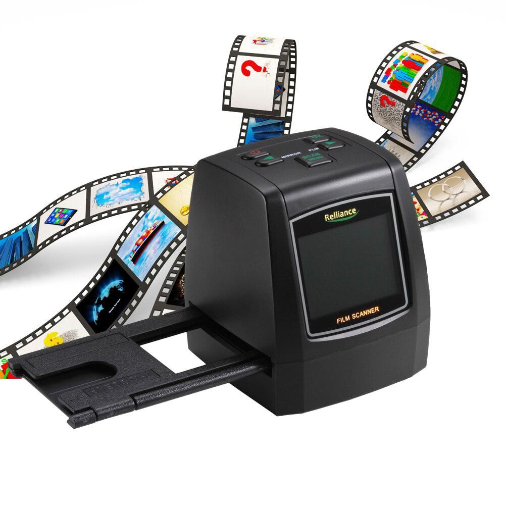 "14MP/22MP escáner de película convertir 35mm/135mm de película de diapositivas negativo en imagen Digital con pantalla LCD de 2,4"""