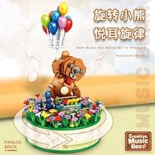 Creative Expert Ideas Music Box Flying Bear Heart Carousel 656009 656010 Moc Bricks Model Building B