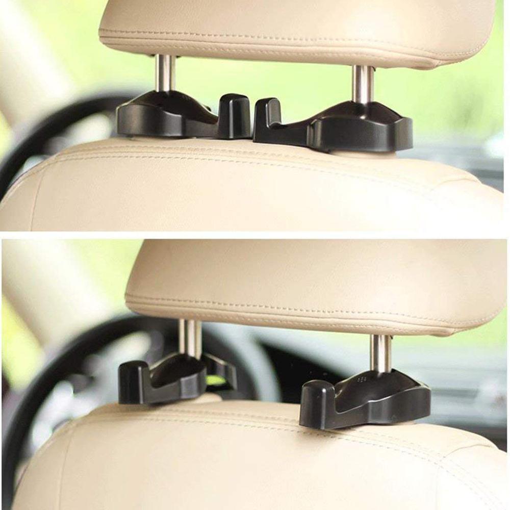 Carro de armazenamento universal banco de trás do carro gancho de encosto de cabeça cabide titular ganchos assento de trás do carro suporte de encosto de cabeça gancho de automóvel ganchos