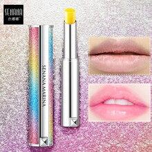 SENANA barra de labios hidratante bálsamo labial nutritivo cielo estrellado decoloración larga duración mejorar peel cuidado de los labios maquillaje cosmético