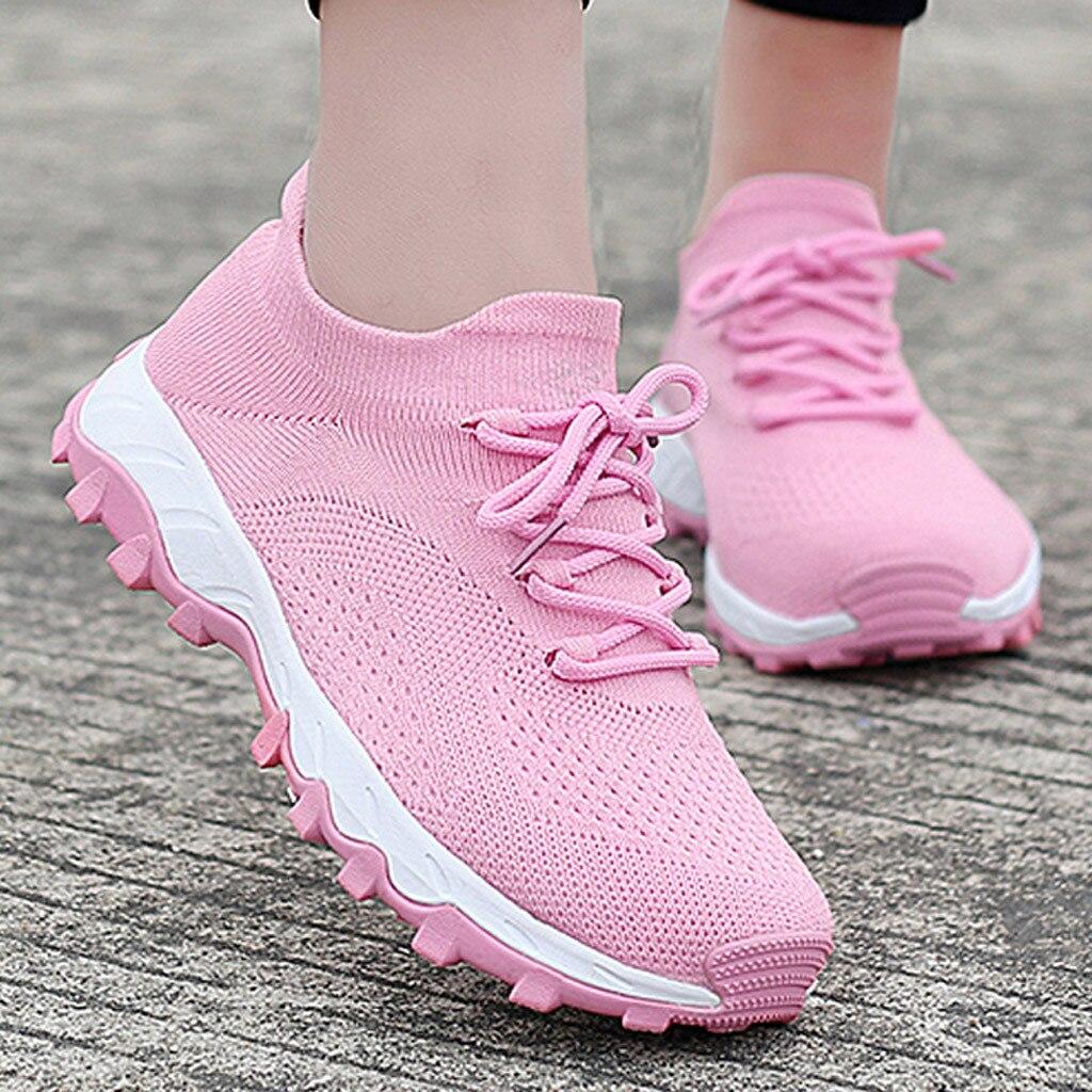 عالية الجودة النساء أحذية رياضية تنفس أحذية رياضية الإناث المدربين شبكة سطح الأحذية