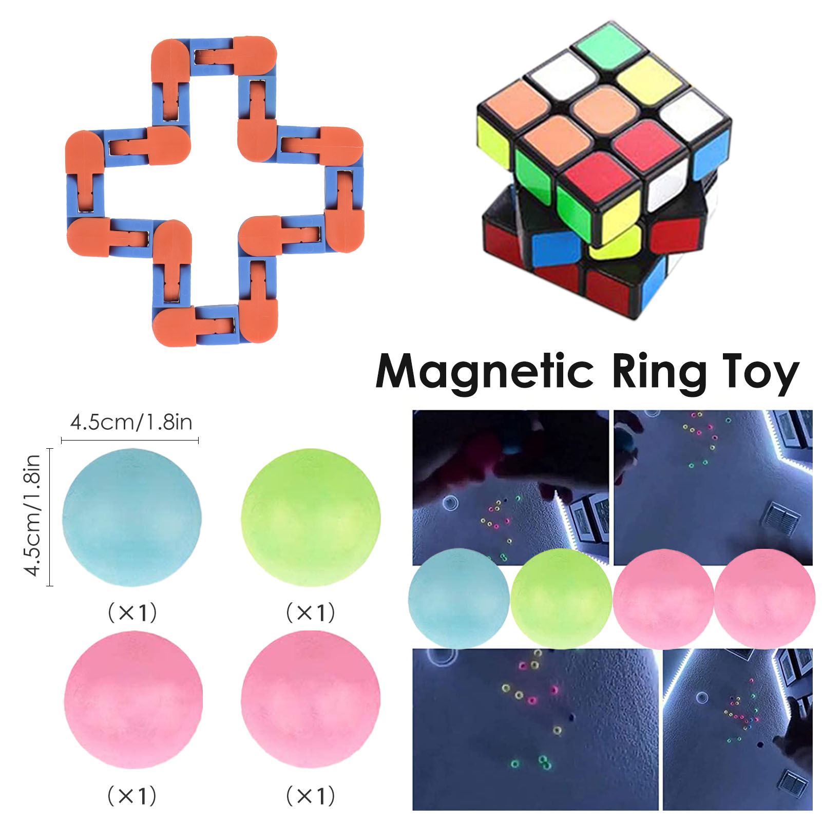 Fidget Toys Anti Stress Toy Set Stretchy Strings Mesh Marble Fidget Toys Set 28PCS Stress Anxiety Relief Sensory Toy enlarge