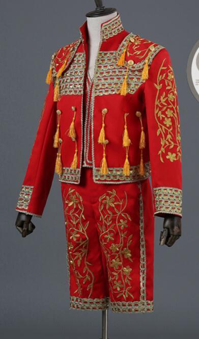 Torero español bordado etapa disfraces hombres antiguos
