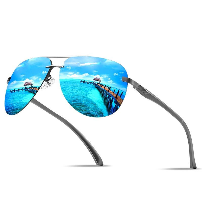 Clássico Vintage Sem Aro Aviação Piloto Óculos De Sol Para Homem Óculos Anti-reflexo Metal Oval