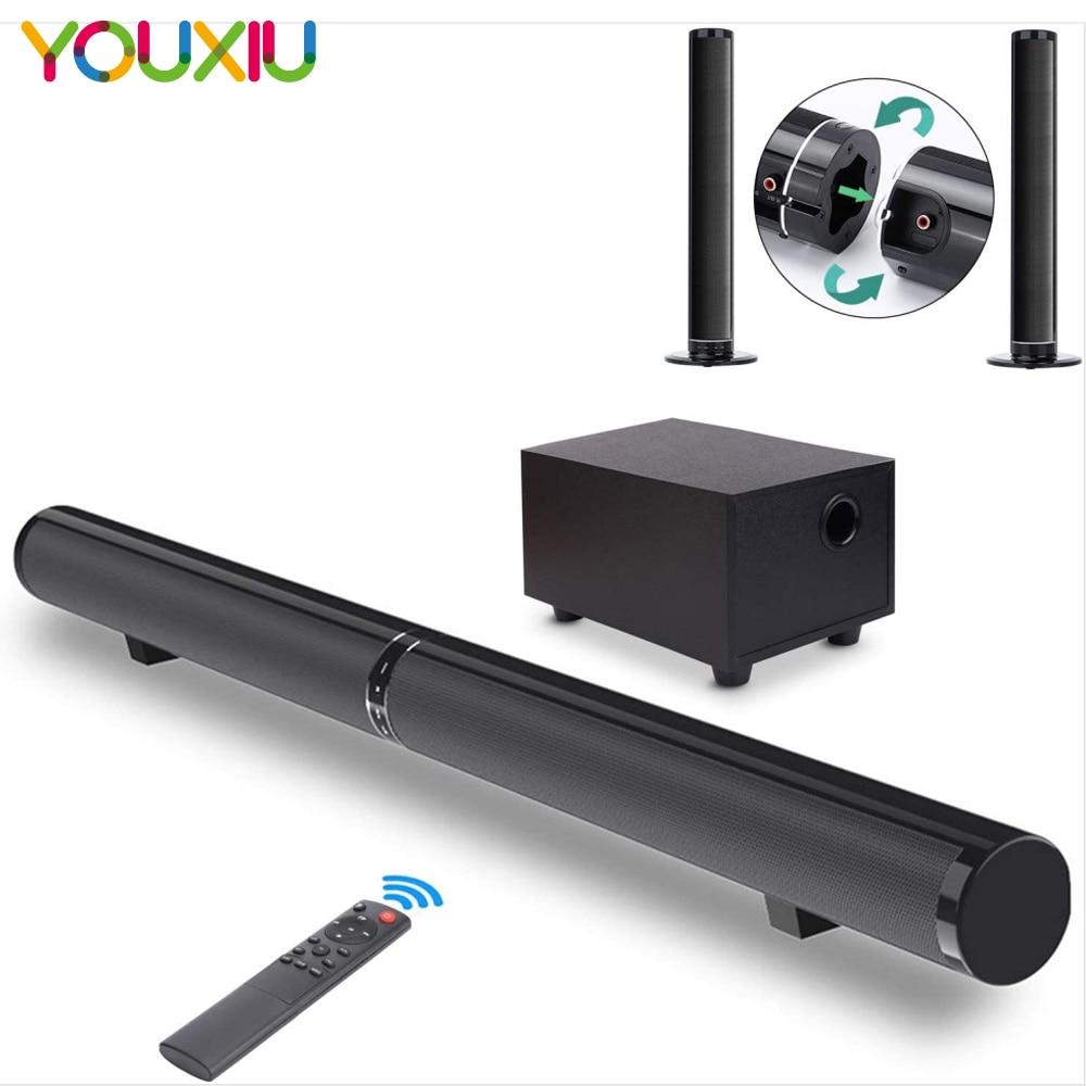 YOUXIU-شريط صوت للتلفزيون المنزلي ، مكبرات صوت بلوتوث قابلة للفصل ، صوت 2.1 ، قضبان حائط مع مضخم صوت ، تعزيز الجهير