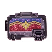marvel movie brooch captain marvel pager flash metal badge pin mens and womens clothing bags decoration accessories gifts