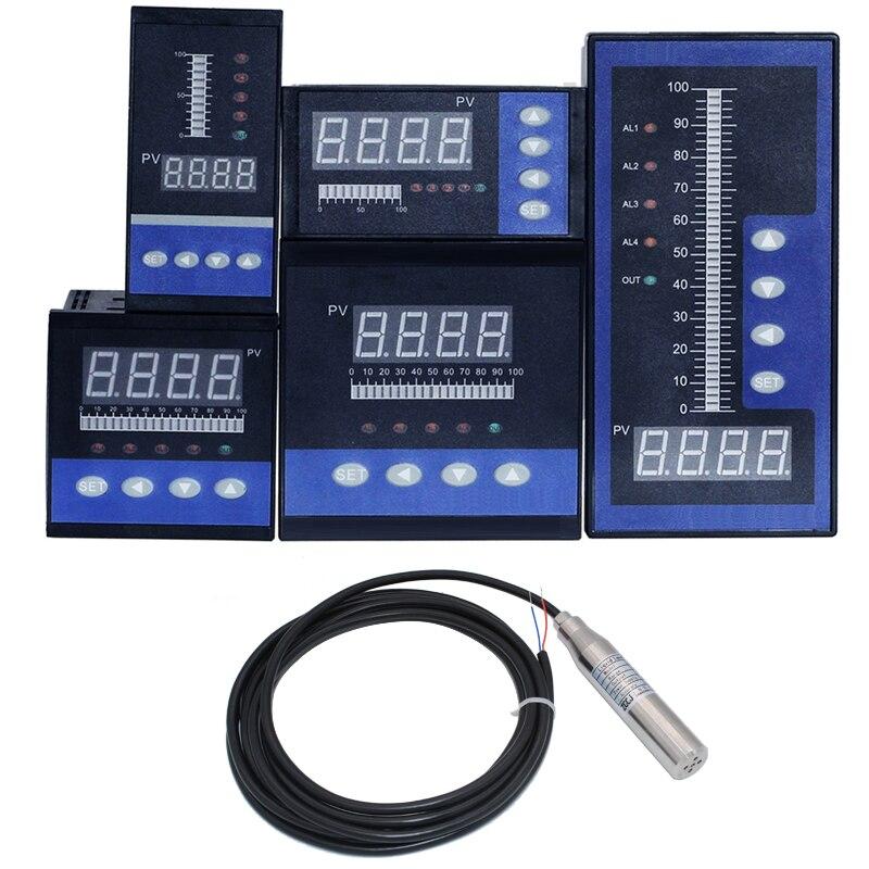 1 set de controlador de nivel de agua con sensor de nivel de 5M sensor de profundidad líquida controlador de profundidad de agua con 4 salidas de relé