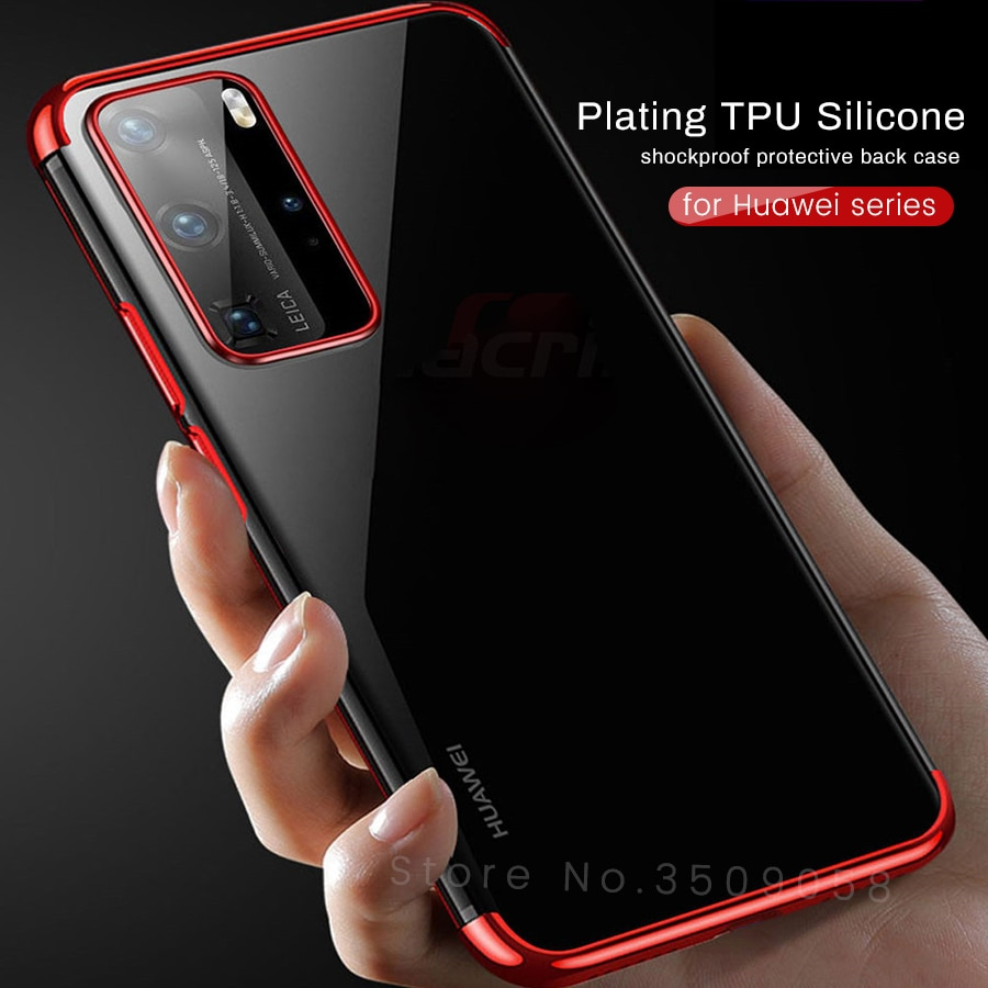 plating silicone soft case for huawei p10 p20 plus p30 p40 mate 10 20 30 pro lite light p smart z pl