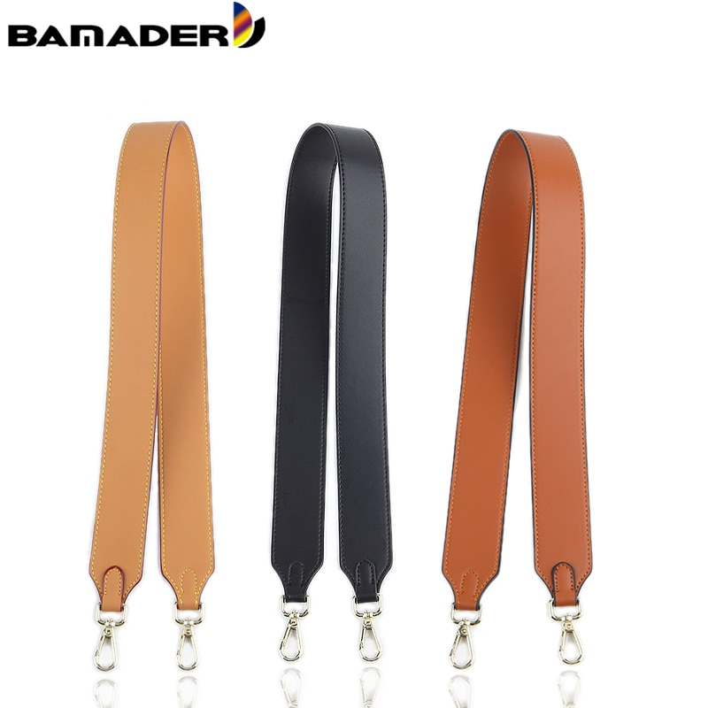 BAMADER Accessories For Handbags Discoloration Bag Strap Yellow Wax Bag Belts Replacement Leather Crossbody Shoulder Bag Straps genuine leather women bag strap fashion rivet shoulder straps bag accessories real leather crossbody straps for handbags part