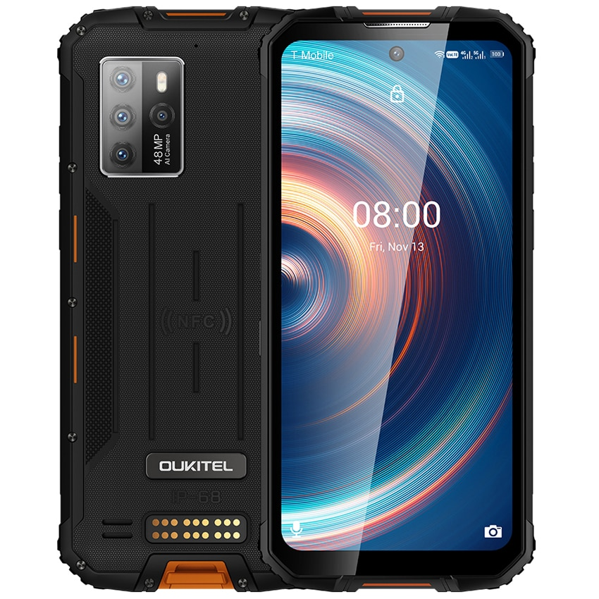 Global Version OUKITEL WP10 NFC Rugged 5G Smartphones android 10 8GB 128GB 8000mAh Mobile Phones 6.67