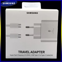 samsung s20 ultra original super fast charger 45w eu travel adapter 5a type c to type c cable for galaxy m31s a11 note 10