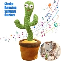 dancing cactus plush electronic shake dancing singing succulent home decor funny toys early education for baby children