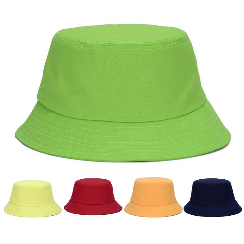 Korean Women Men Cute Jelly Candy Color Bucket Hat Wide Brim Sun Protection Hat Hip Hop Harajuku Packable Fisherman Cap