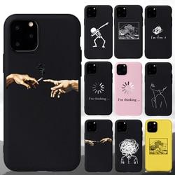 "Мягкий матовый чехол для телефона с рисунком ""Мона Лиза"", ""Давид"", ""Лиза"", Чехол для телефона, Coque Fundas, для iPhone 11 Pro, 7 Plus, 6 S, 5, 8 Plus, X, XS, Max, чехол s"