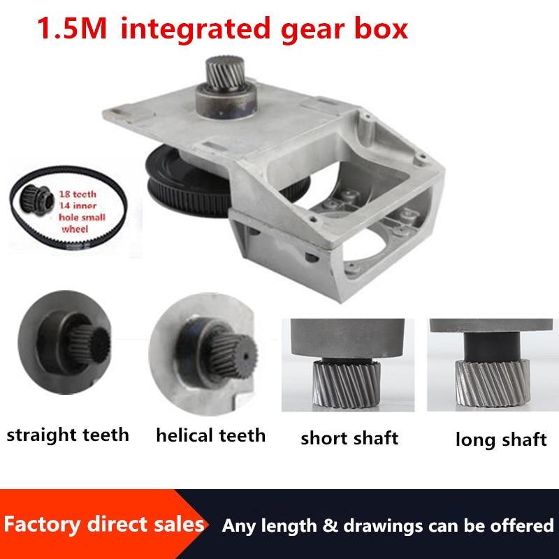 نك صندوق التروس نسبة 5:1 مناسبة صندوق التروس اليسار حلزونية الأسنان قصيرة محور صندوق التروس 1.5 وحدة متزامن عجلة المخفض صندوق 1.5 متر