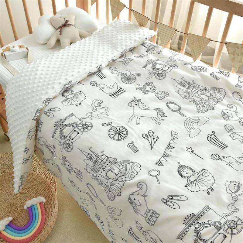 Four Season Baby Kids Cotton Sleeping Quilt Blanket For Appease Thick Warm Children Bed Blanket Quilt For Nursery School Blanket enlarge