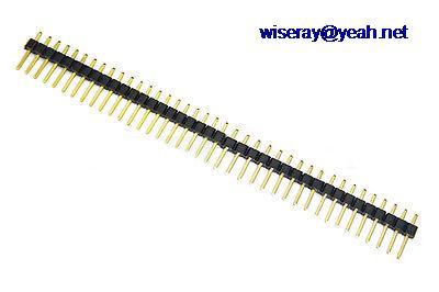 Conectores para Pcb Pin 2.54 Milímetros Única Linha Cabeçalho Programador Board-a7 Dhl – Ems 500pcs 40