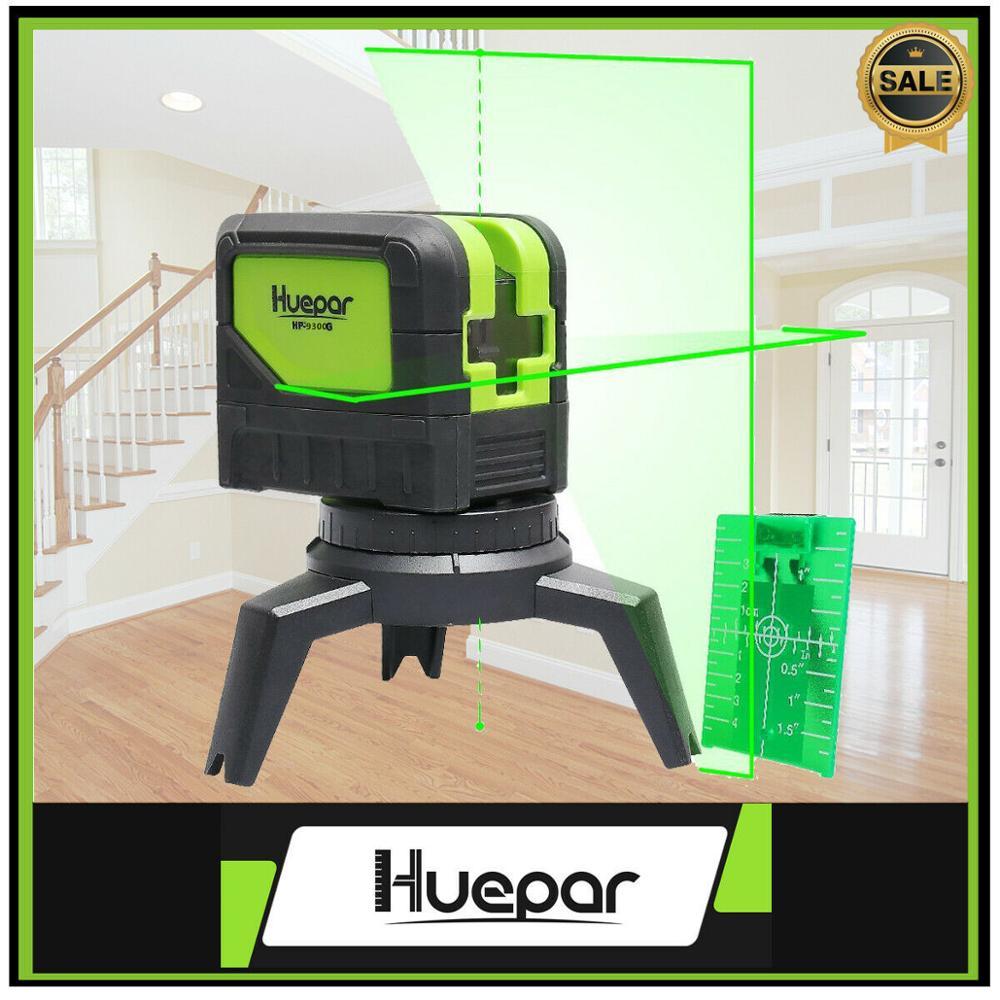 Huepar 3 láser de punto Nivel de autonivelación Rayo verde láser con puntos de plomada para soldadura y Posicionamiento de referencia de puntos