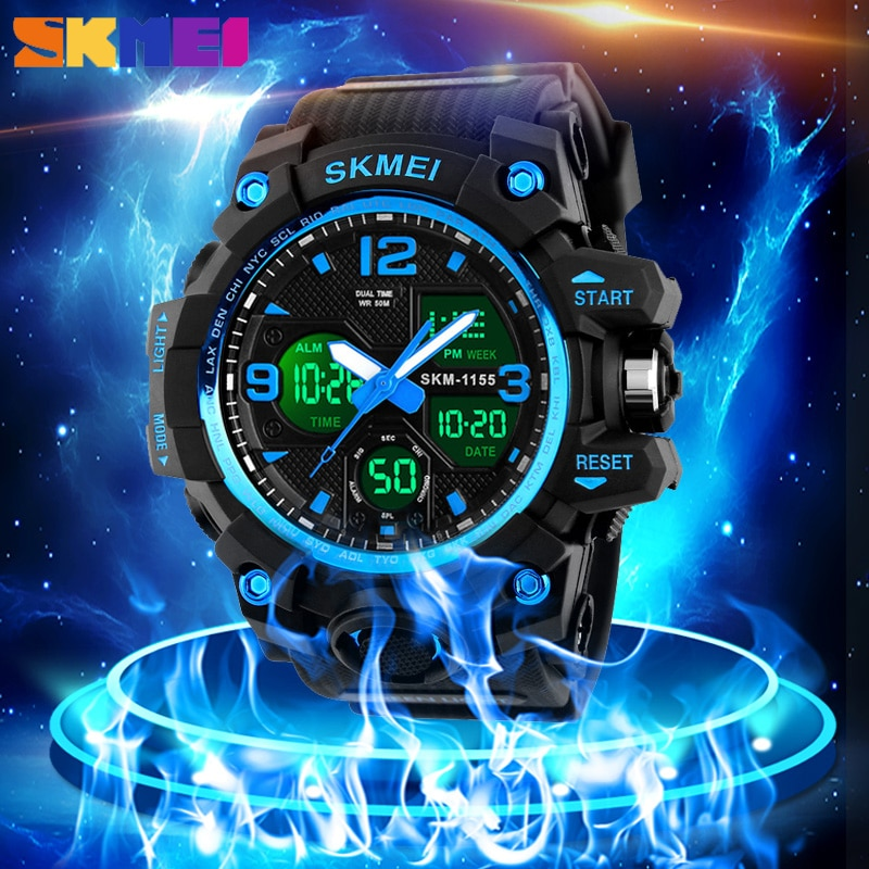 SKMEI Army Digital Mens Sports Watch Bacelet Military Quartz Clock Waterproof Electronic Gifts For M