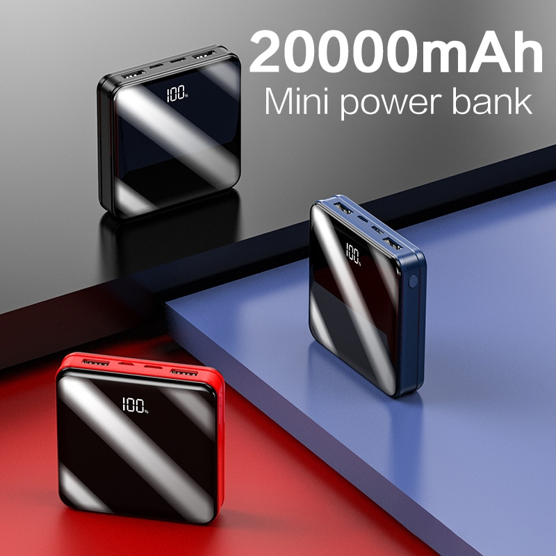 20000mAh Mini Power Bank For Xiaomi Mi iphone Samsung Mini Poverbank Fast Charging Portable External
