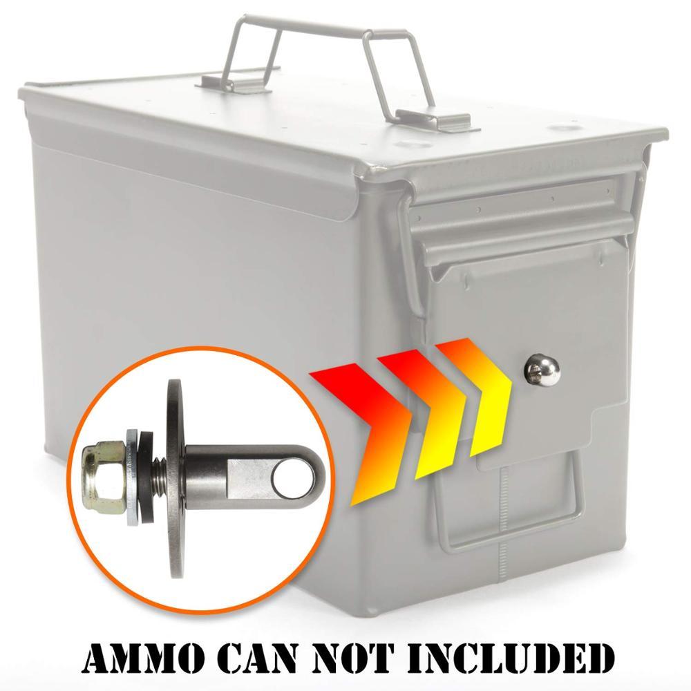 Ящик для пистолета со стальным замком, 50 кал, сейф для пистолета, военный армейский запираемый чехол 40 мм, пистолет, хранилище ценных вещей