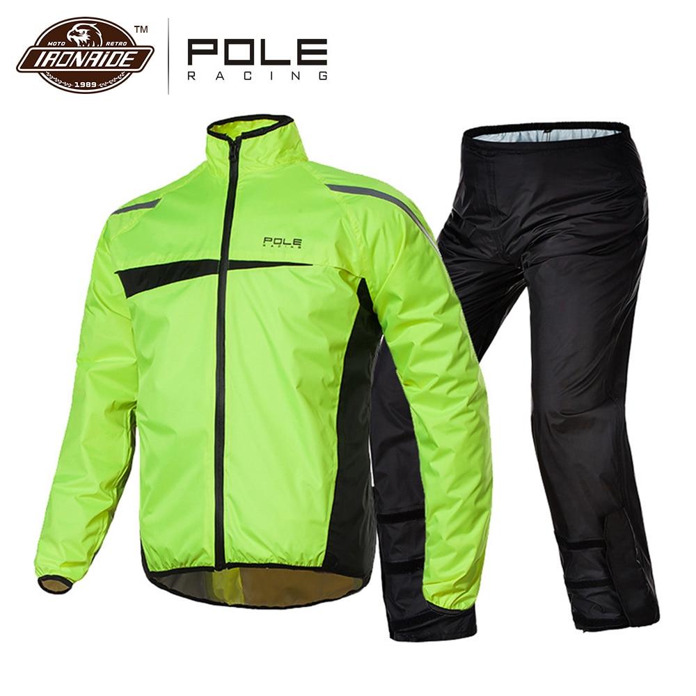 Impermeable de motocicleta a prueba de agua y pantalones de lluvia, Poncho, traje de motocicleta para la lluvia, Moto, chaqueta de lluvia, motorista, capa de lluvia