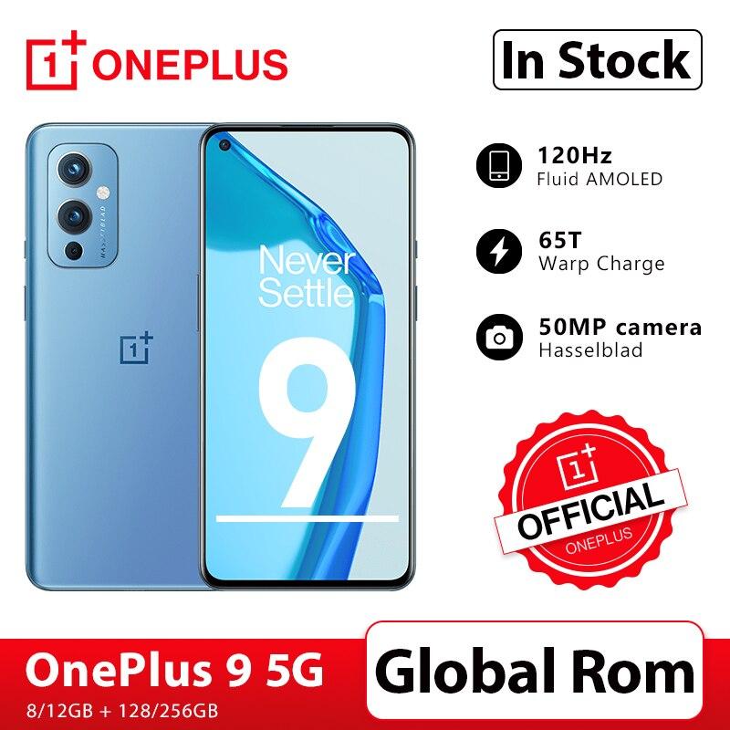 Global Rom OnePlus 9 5G Snapdragon 888 8GB 128GB Smartphone 6.5'' 120Hz Fluid AMOLED Display Has