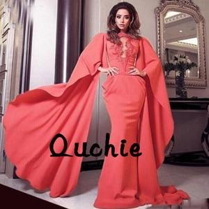 With Jacket Deep V Mermaid Evening Dresses Vintage Satin robe soiree Islamic Dubai Kaftan Saudi Arabic Prom Gown