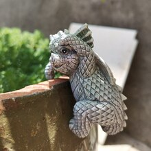 4pcs New Style Garden Dragon Statue Dragon Ornament Resin Feature Sculpture Lawn Figurine for Home G