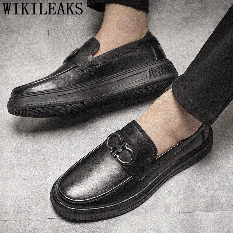 Mocasines Zapatos altos negros para hombre, zapatos de plataforma para hombre, zapatos corporativos para hombre, Oxford, italiano, Coiffeur, Scarpe, Uomo, Eleganti