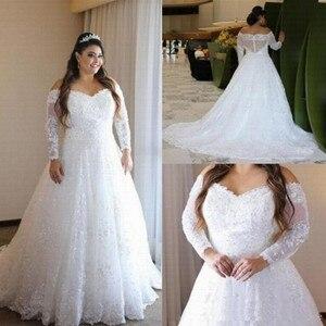 New Off The Shoulder Arabic Wedding Dresses 2021 Plus Size Wedding Dress Amazing Back Robe De Mariage Lace Vestido De Noiva