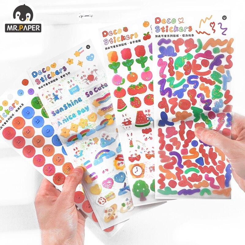 mr-paper-4-disegni-1-pz-borsa-ins-stile-cosi-carino-serie-paillettes-conto-mano-fai-da-te-decor-collage-materiale-pianura-adesivi-foglio