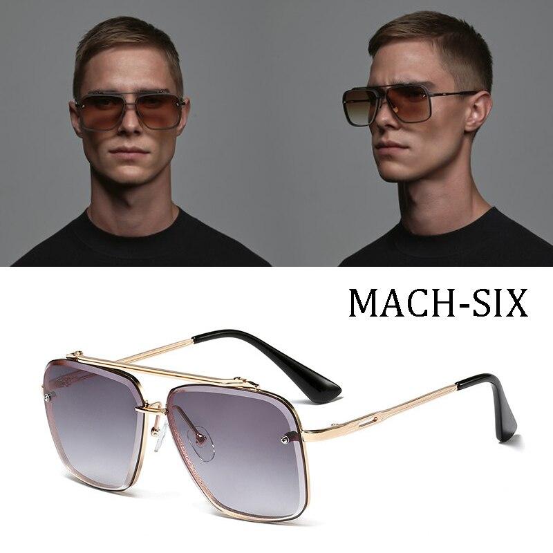 DPZ 2019 Fashion Classic Mach Six Style Gradient Sunglasses Cool Men Vintage Brand Design Sun Glasses Oculos De Sol