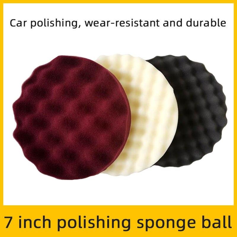 Автомобильный восковой Полировочный губчатый шар 7 дюймов черный и белый самоклеящийся 200 мм волновой диск Полировочный диск губчатый диск