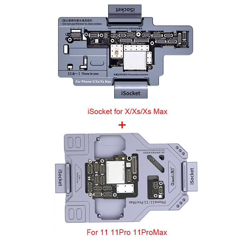 Qianli iSocket للهاتف X XS XSMAX 11 11Pro ماكس المنطق مجلس وظيفة التشخيص اختبار سريع جودة اللوحة اختبار تركيبات