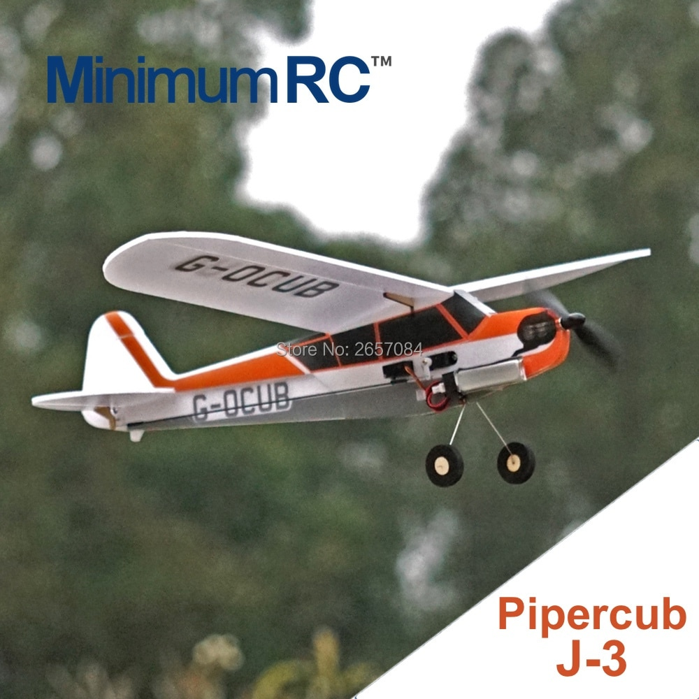 MinimumRC J3 360mm Wingspan 3 Channel Trainer Fixed-wing RC Airplane Outdoor Toys For Children Kids