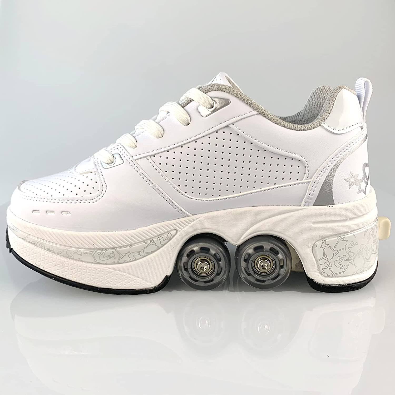 Hot Walk Roller Shoes Men Women Casual Sneakers Skates Deform Wheel Skates for Adult Unisex Child Runaway Skates Four Wheeled enlarge