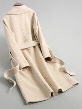Automne hiver veste femmes Double face manteau de laine femme coréen laine manteaux alpaga Vintage longues vestes KQN38087 MY1285