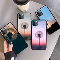 dandelion flying flower phone case for iphone 11 12 pro xs max 8 7 6 6s plus x 5s se 2020 xr mini